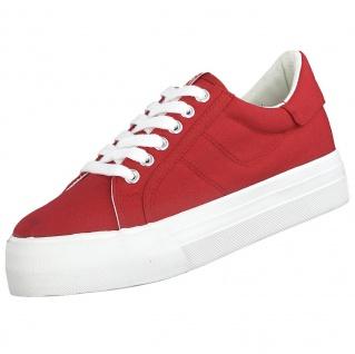 TAMARIS Damen Plateau Sneakers Rot