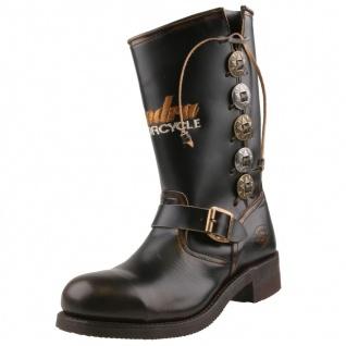 Sendra Motorradstiefel Boots 3580 dunkelbraun