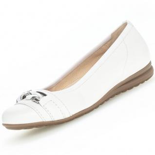 GABOR Comfort Damen Ballerinas Weiß