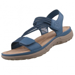 Rieker Damen Sandalen Blau