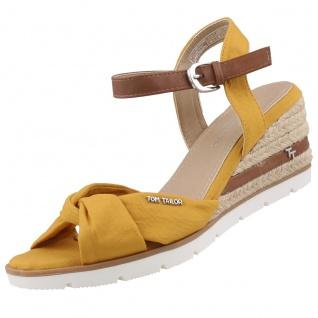 TOM TAILOR Damen Keil-Sandaletten Gelb