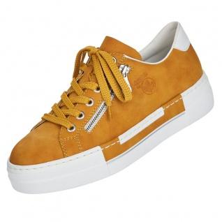 Rieker Damen Plateau-Sneaker Gelb