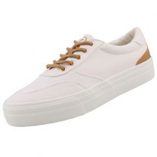 TAMARIS Damen Plateau Sneakers Weiß