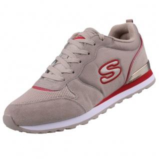 Skechers Damen Sneakers OG 85 STEP N FLY Beige/Rot