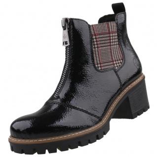 Rieker Damen Chelsea Boots gefüttert Schwarz