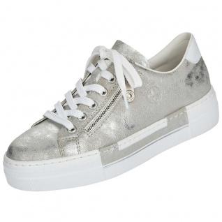 Rieker Damen Plateau-Sneaker Silber