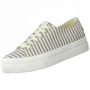 TAMARIS Damen Plateau Sneakers Beige/Blau