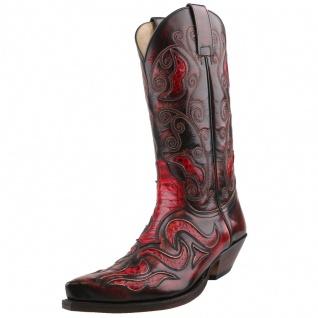 Sendra Python Cowboystiefel 7428P Rot
