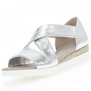 GABOR Comfort Damen Sandalen Silber
