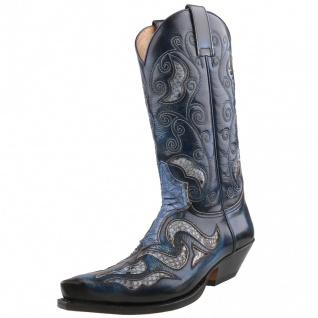 Sendra Python Cowboystiefel 7428 Blau