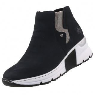 Rieker Damen Chelsea Boots Dunkelblau
