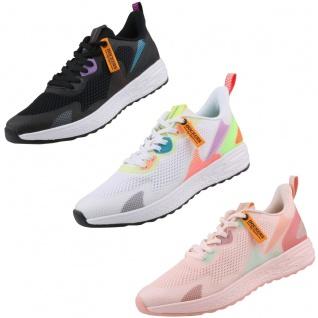 Dockers by Gerli Damen Sneaker Schwarz, Weiß, Rosa