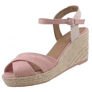 TOM TAILOR Damen Keil-Sandaletten Rosa