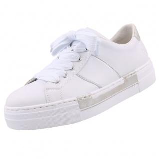 Rieker Damen Plateau-Sneaker Weiß