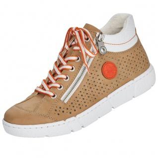 Rieker Damen High Top Sneaker Beige