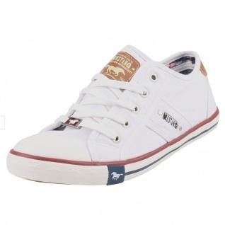 Mustang Herren Canvas Sneaker Weiß