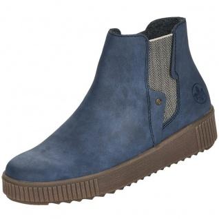 Rieker Damen Chelsea Boots Blau
