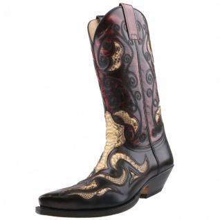 Sendra Python Cowboystiefel 7428P Schwarz