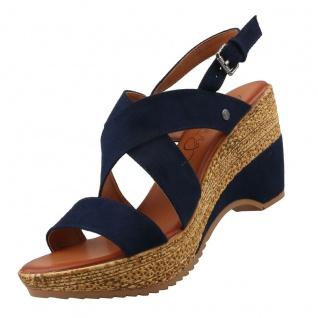 Mustang Damen Plateau-Sandaletten Blau