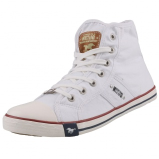 Mustang Herren Canvas High Top Sneaker Weiß