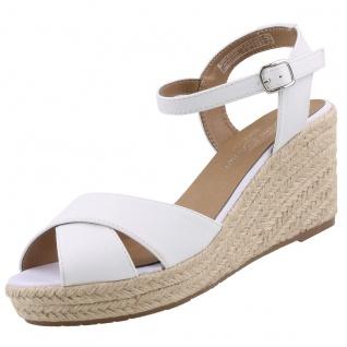 TOM TAILOR Damen Keil-Sandaletten Weiß