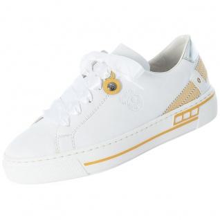 Rieker Damen Sneaker Weiß/Gelb