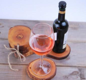 6er Set Untersetzer aus Olivenholz Glasuntersetzer, Topf- Flaschenuntersetzer