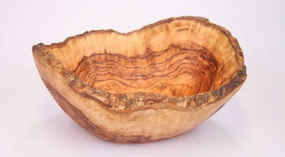 Holzschale Obstschale Holz Schale Schüssel Brotschale Obstkorb Olivenholz 30cm