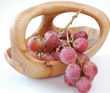 Holzschale Obstschale Holz Schale Schüssel Brotschale Obstkorb Olivenholz Korb