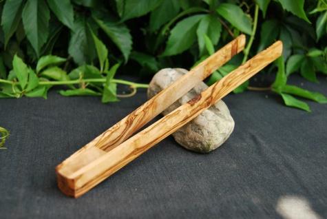 Grillzange Holz Zange Nudelzange Holzzange Küchenzange aus Olivenholz ca. 30cm