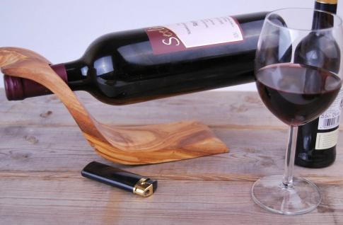 Edler Flaschenhalter Weinhalter, Weinflaschenhalter Weinregal aus Olivenholz