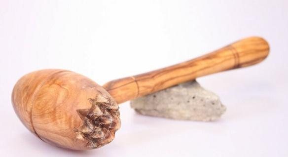 Schnitzelklopfer aus Olivenholz Fleischhammer Fleischklopfer Hammer Holz Klopfer
