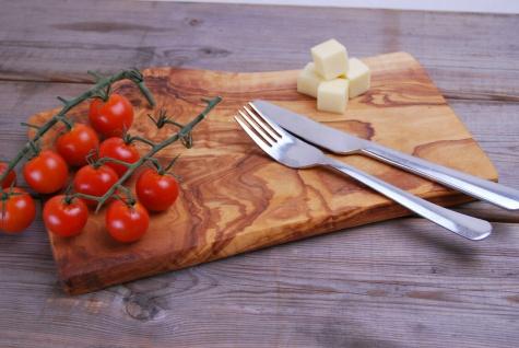 Frühstücksbrett Schneidebrett aus Olivenholz Holzbrett Frühstücksbrettchen Brett