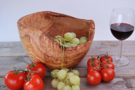 Schüssel Salatschüssel Obstschale Salatschale Schale Schüßel Olivenholz 25Cm