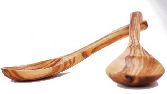 2er Esslöffel Olivenholz tiefe Form 18cm Holzlöffel Probierlöffel Löffel Holz
