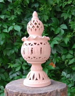 Windlicht Lampe Laterne aus Terracotta Terrakotta 40Cm Set 2 teilig Handarbeit