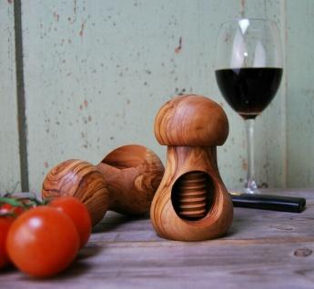 Nußknacker Nussschraube Olivenholz Nussöffner Nussbrecher Walsnuss Nüsse Holz