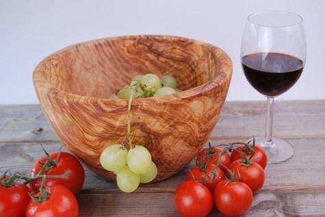 Schüssel Salatschüssel Obstschale Salatschale Schale Schüßel Olivenholz 25Cm - Vorschau 3