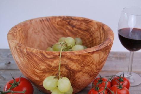 Schüssel Salatschüssel Obstschale Salatschale Schale Schüßel Olivenholz 25Cm - Vorschau 5