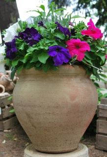 Großer Blumentopf, Amphore Übertopf Blumenkübel Gefäß aus Terrakotta Terracotta