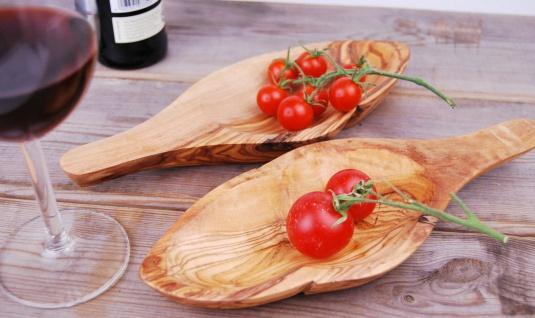 Schale - Blattschale aus Olivenholz Holzschale Olivenschale Schüssel Schälchen