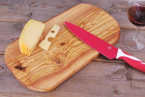 Schneidebrett Olivenholz Holzbrett Frühstücksbrett Brett Holz Vesperbrett 35cm - Vorschau 2