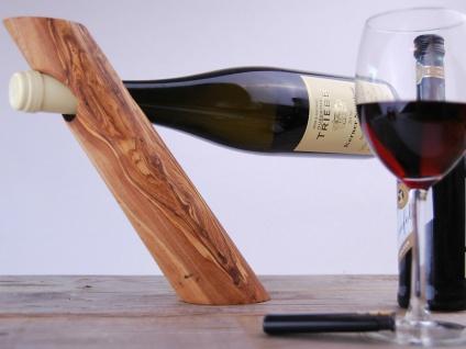Edler Flaschenhalter Weinhalter, Weinregal aus Olivenholz Wein Ständer länglich