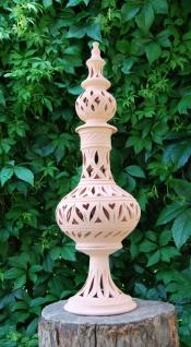 Windlicht Lampe Laterne aus Terracotta Terrakotta 70 Cm - für Garten & Innenraum