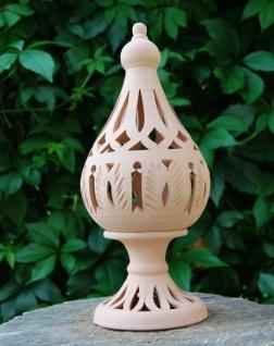 Windlicht Lampe, Kerzenhalter aus Terracotta Form: TURM - Weihnacht Deko H.32cm