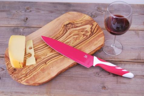 Schneidebrett Olivenholz Holzbrett Frühstücksbrett Brett Holz Vesperbrett 35cm - Vorschau 3