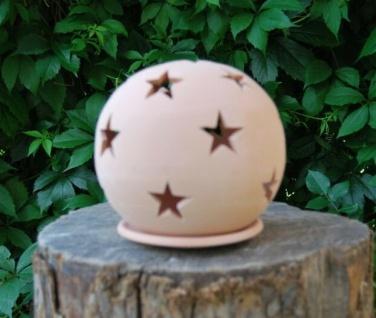 Windlicht Lampe Kerzenhalter aus Terracotta Sternen Weihnachten Licht Dekoration