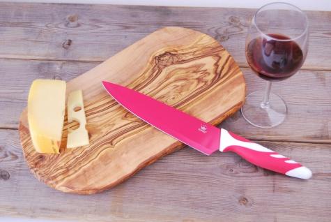 Schneidebrett Olivenholz Holzbrett Frühstücksbrett Brett Holz Vesperbrett 35cm - Vorschau 5