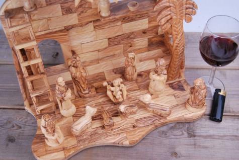 Große Krippe orig. aus Betlehem 13-tlg Krippen Krippenfiguren & Krippenstall - Vorschau 2