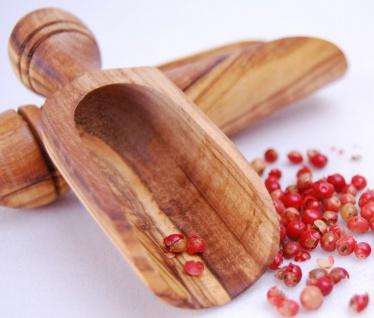 2x Gewürzschippe Salzschippe Gewürzschaufel Teeschaufel Schippe Olivenholz Holz